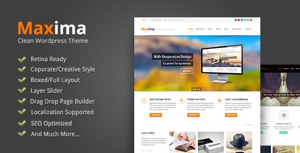 Maxima - Retina Ready WordPress Theme Download