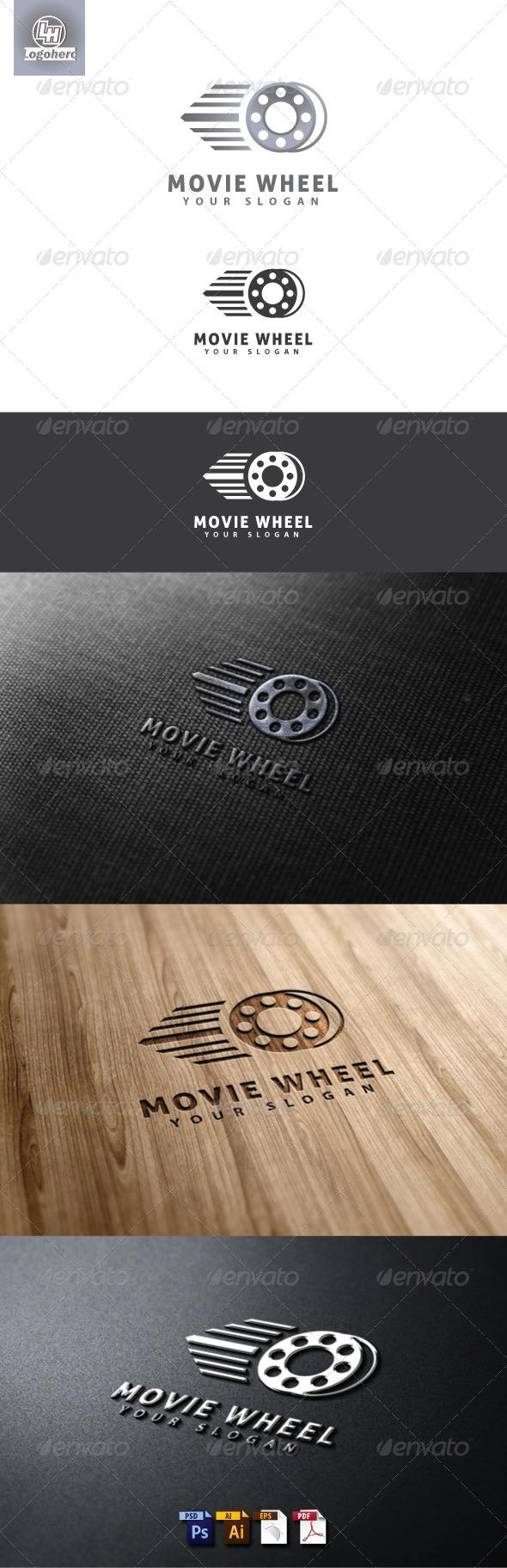 Movie Wheel Logo Template
