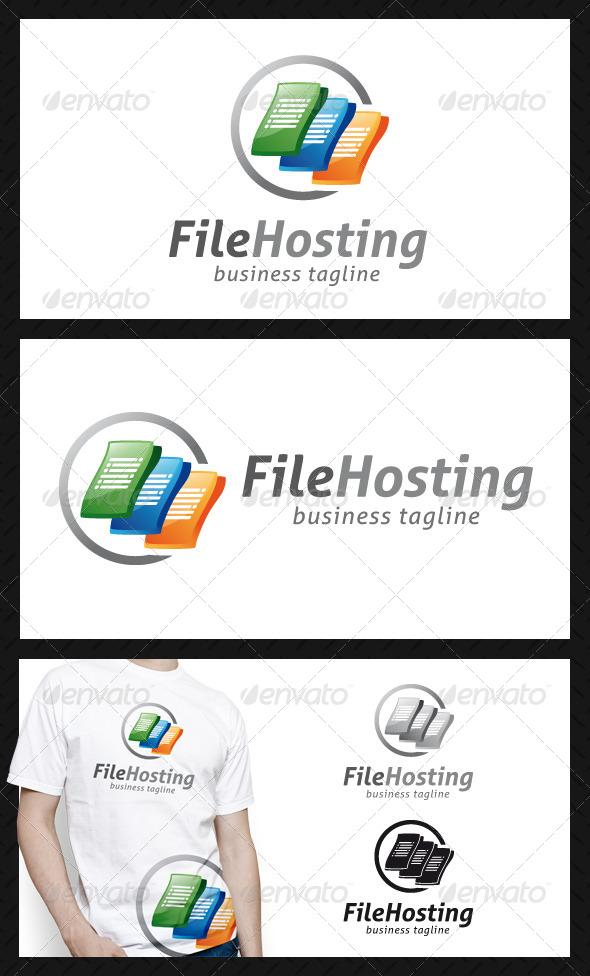 File Hosting Logo Template