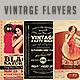 Vintage & Retro Flyers Bundle 2 - GraphicRiver Item for Sale