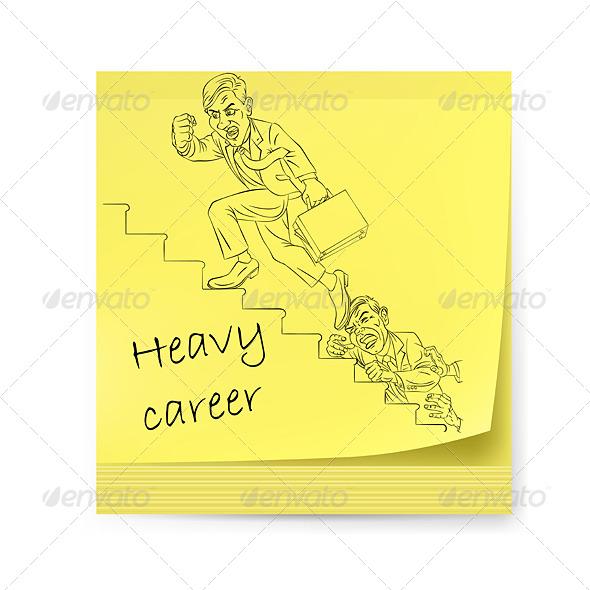 Yellow Sticker with Businessman