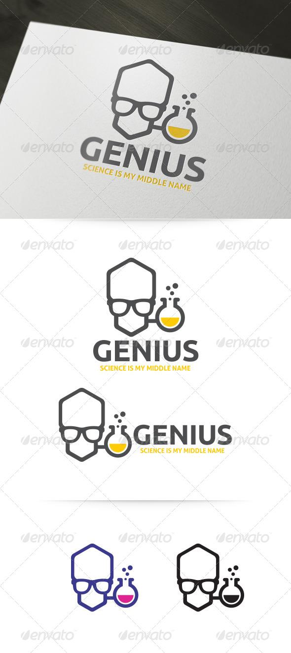 Genius - Lab Geek Logo Template