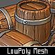 Low Poly Wooden Barrel - 3DOcean Item for Sale