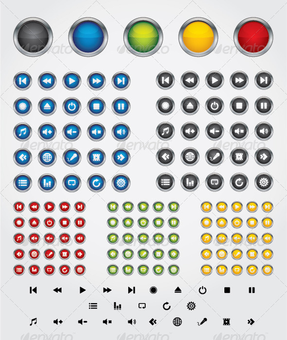 Media Button Templates from GraphicRiver