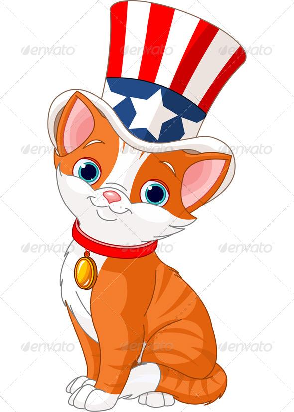 Fourth of July Kitten