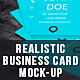 Photorealistic Business Card Mock-Ups - GraphicRiver Item for Sale