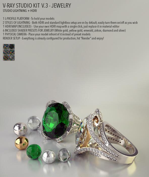 Emerald CG Textures & 3D Models from 3DOcean