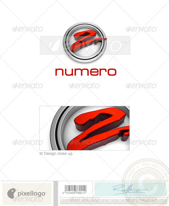 Numbers Logo - 3D-301