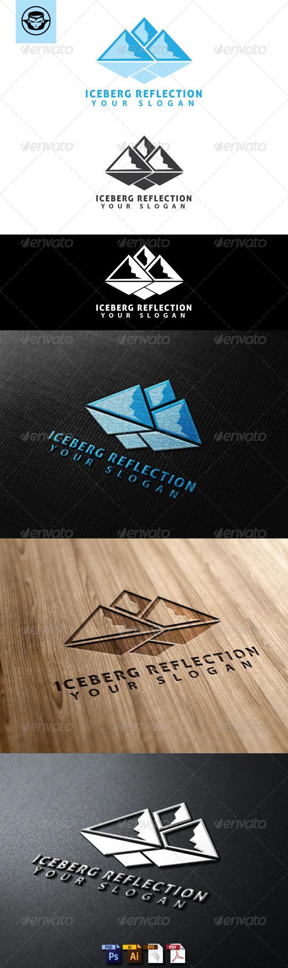 Iceberg Reflection Logo Template