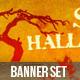 Halloween Banner Ads Set - GraphicRiver Item for Sale