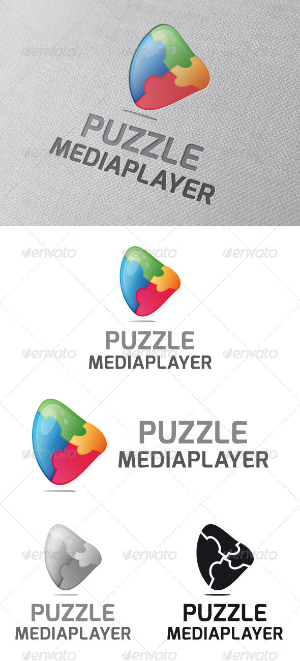 Puzzle Media Player Logo Template