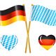 Germany and Bavaria Flags Icons - GraphicRiver Item for Sale