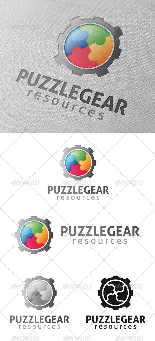 Puzzle Gear Logo Template