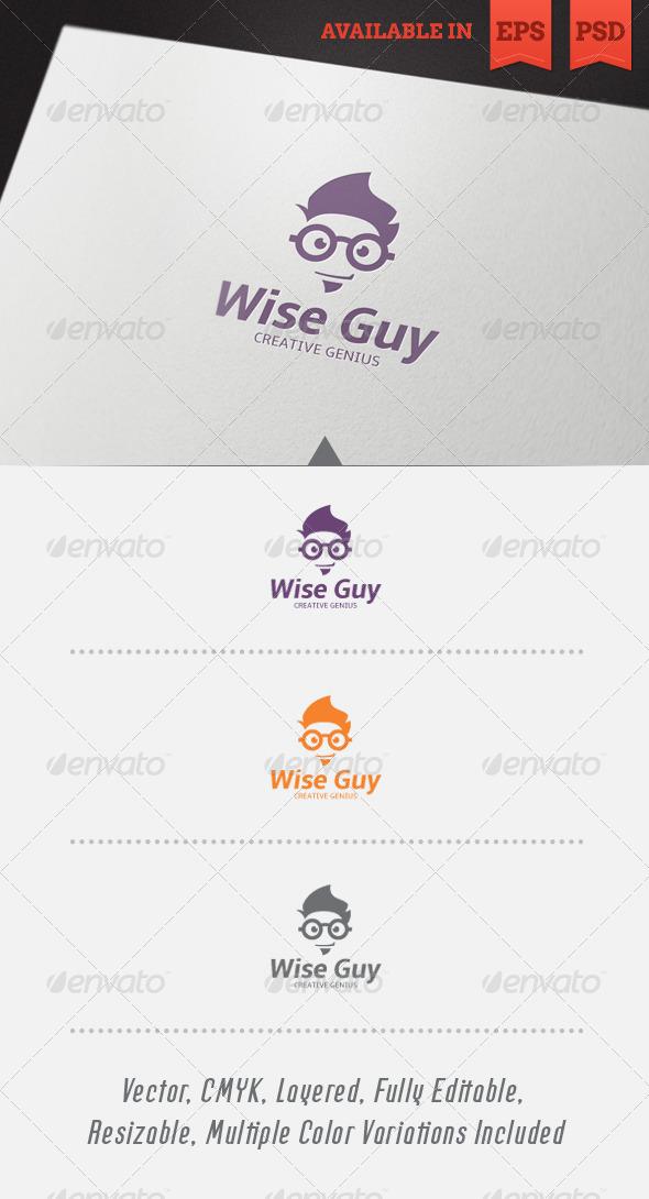 Wise Guy Logo Template V1