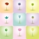 Colorful Flowers and Abstract Icons for Background - GraphicRiver Item for Sale