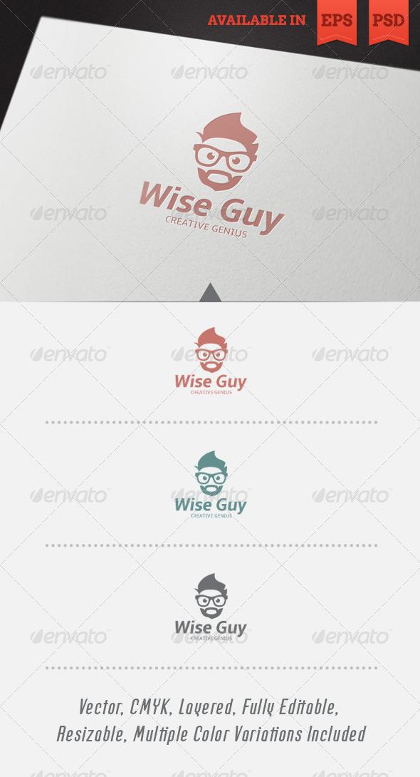 Wise Guy Logo Template V2