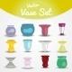 Colorful Vases Set - GraphicRiver Item for Sale