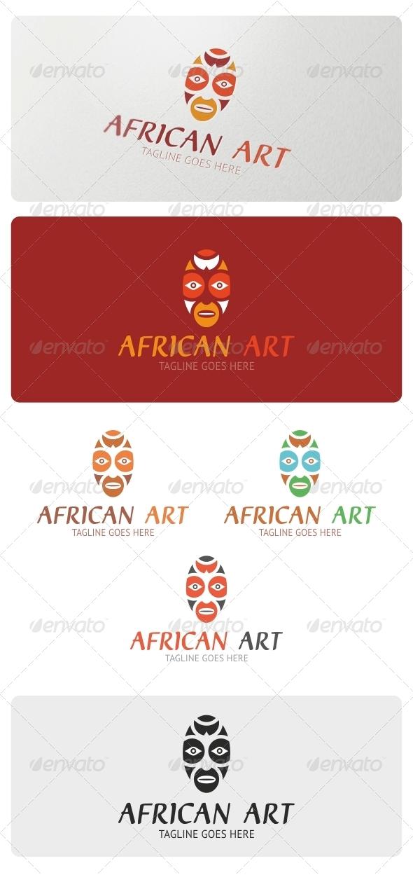 African Art Logo Template