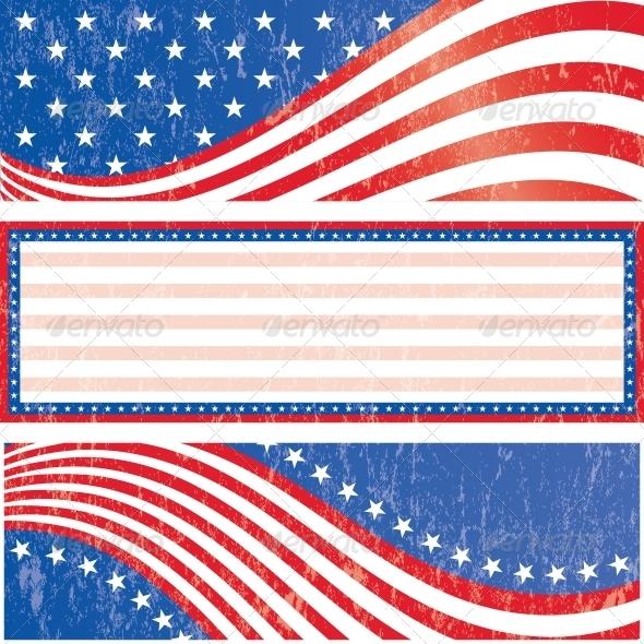 American Flag Stickers Set
