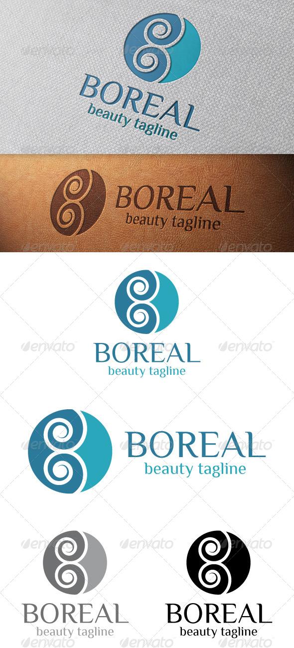 Boreal Abstract Logo Template