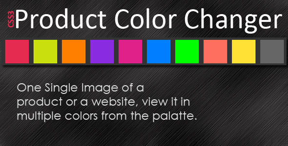 CSS3 Product Color Changer