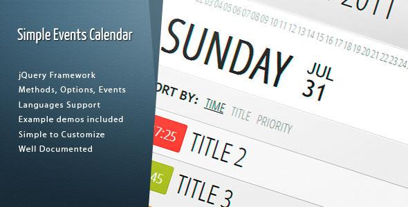 Calendar JavaScript Templates from CodeCanyon