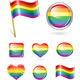 Set of Rainbow Buttons - GraphicRiver Item for Sale