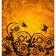 Orange Floral Background - GraphicRiver Item for Sale