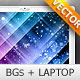 Abstract backgrounds and laptop - vector - GraphicRiver Item for Sale