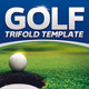 Golf Event Trifold Template - GraphicRiver Item for Sale