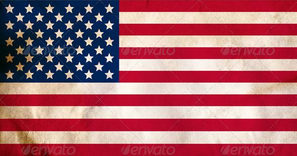 Aged American Flag