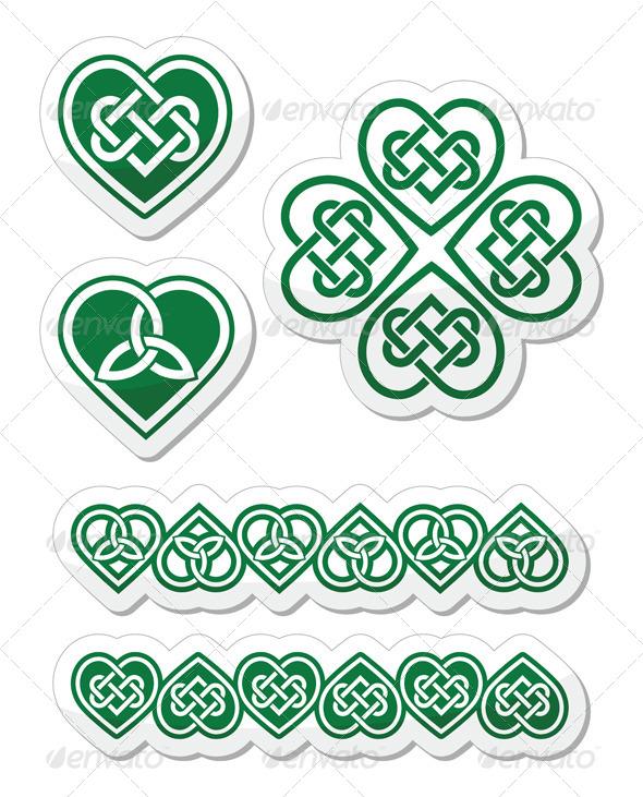 Celtic Green Heart Knot Set