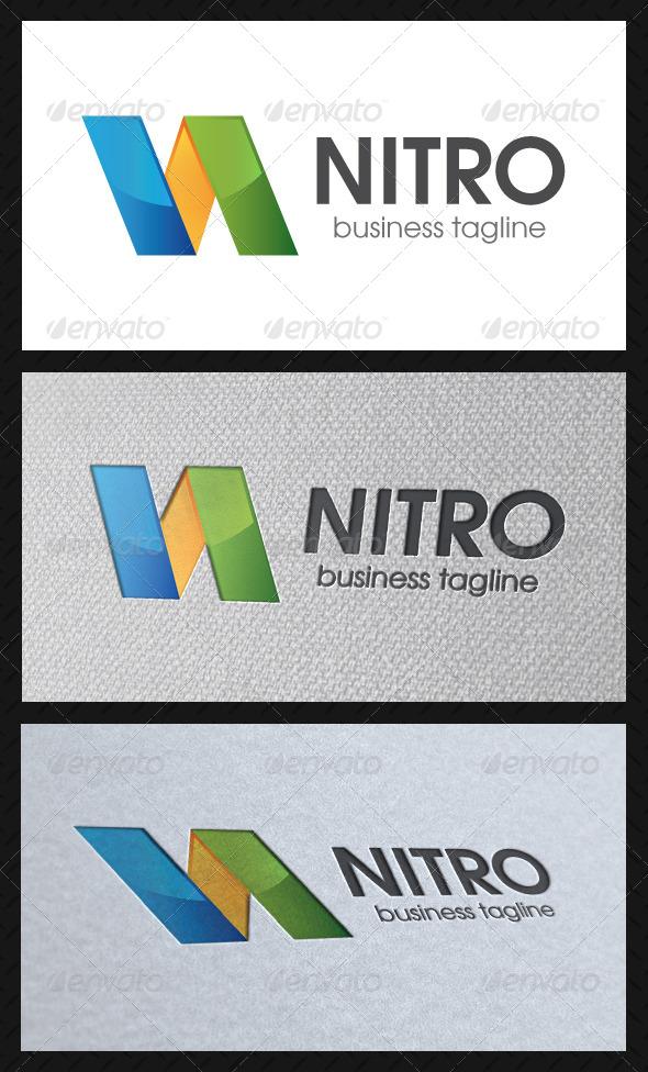 Nitro N Letter Logo Template