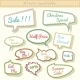 Speech Bubbles 3D with Sale Text - GraphicRiver Item for Sale