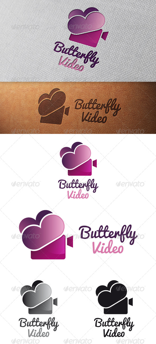 Butterfly Video Logo Template