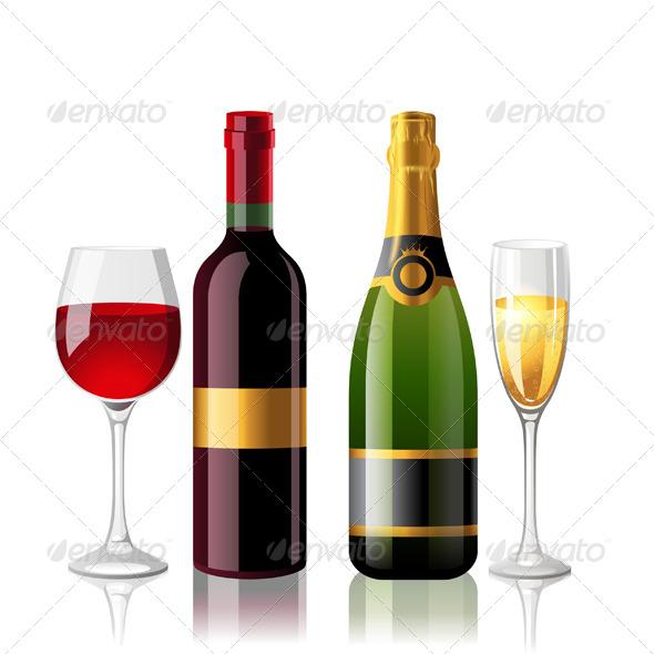 Wine and Champaigne