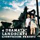 4 Dramatic Landscape Lightroom Presets - GraphicRiver Item for Sale