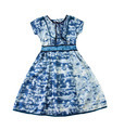 Paint spots blue evase belted dress - PhotoDune Item for Sale