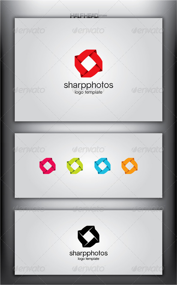 SharpPhotos Logo Template