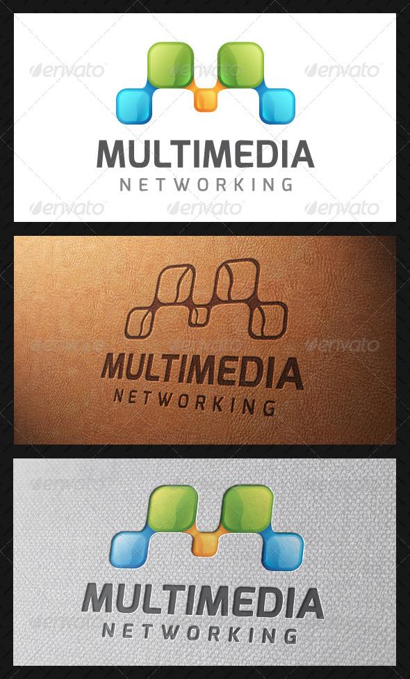 Multimedia Letter M Logo Template