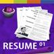 GD Professional Resume Set 01 - GraphicRiver Item for Sale