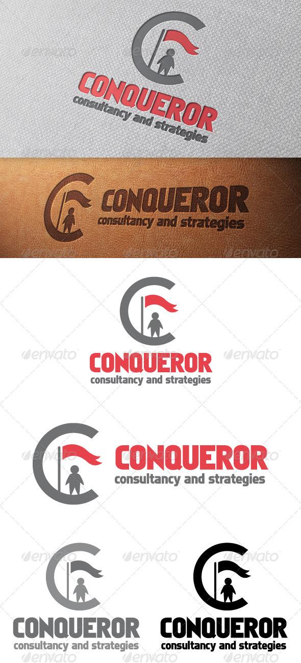 Conqueror Letter C Logo Template