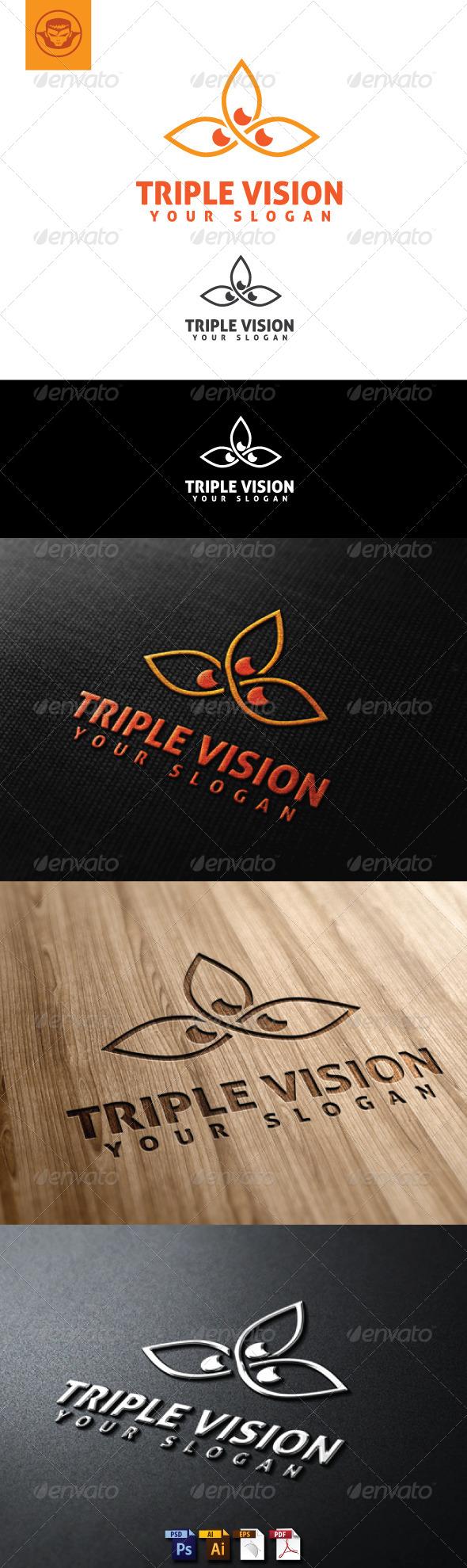 Triple Vision Logo Template