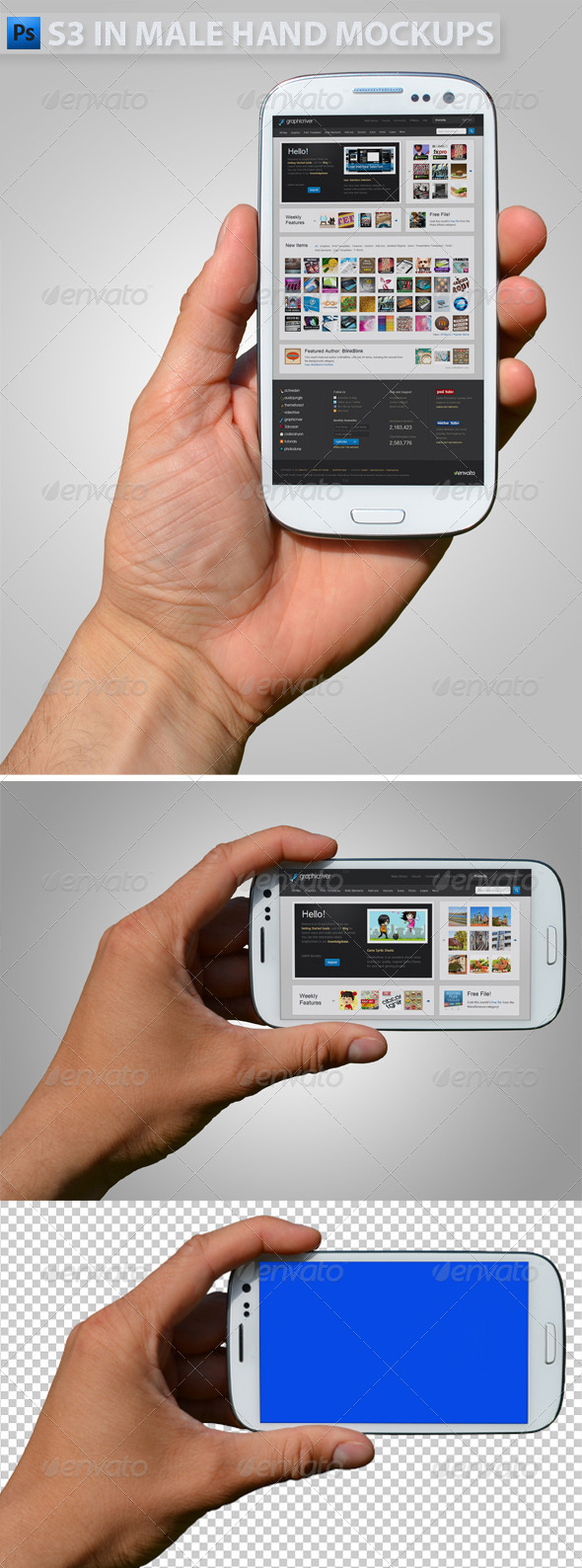 Android Mobile Mockups from GraphicRiver