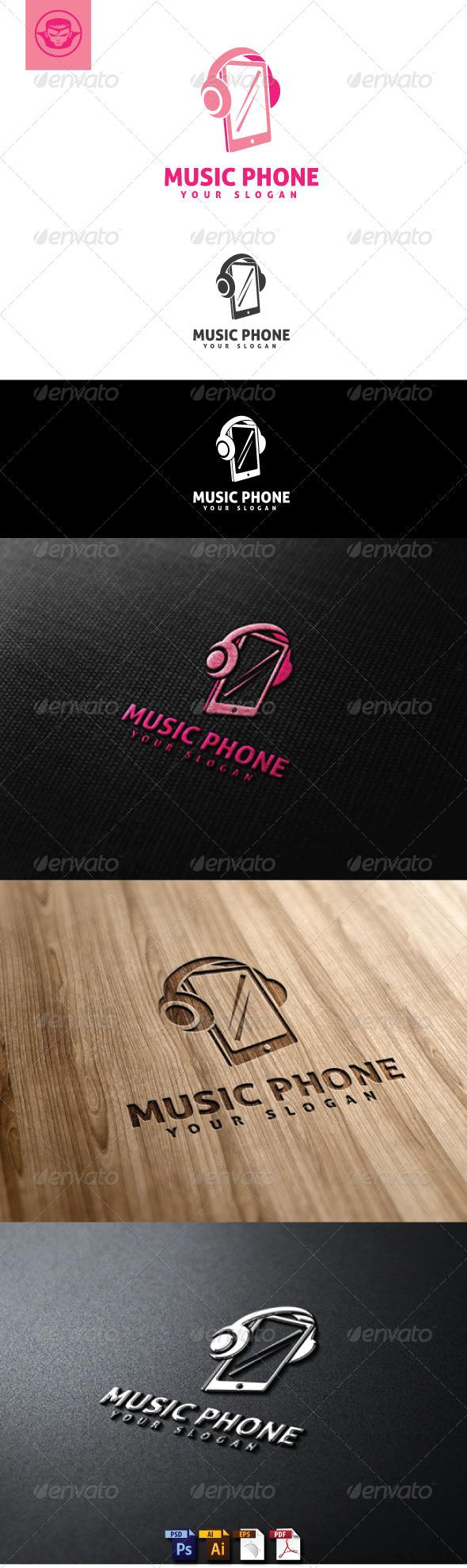 Music Phone Logo Template