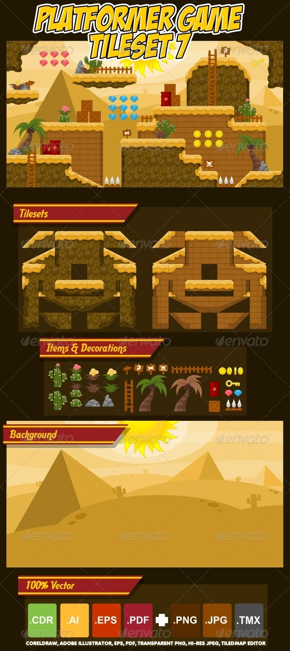 Game Tilesets from GraphicRiver