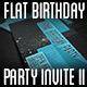 Flat Retro Birthday Party Invite II - GraphicRiver Item for Sale