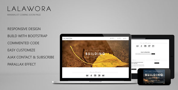 Lalawora - Responsive Coming Soon Page
