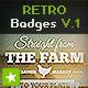 12 Retro Badges / Vintage Labels V.1 - GraphicRiver Item for Sale