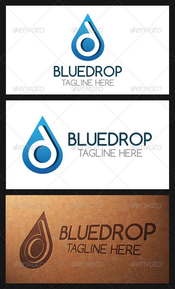 Drop Letter D Logo Template